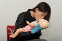 Baby CPR breathing